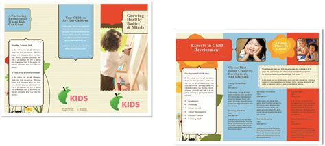 preschool brochure ideas child care brochure template 6 child care owner 582