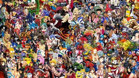 All Anime In One Wallpaper - all anime wallpaper wallpapersafari