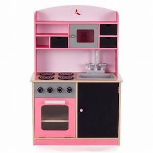 Cuisine Bebe Bois : baby vivo cuisine enfant en bois avec tableau noir mila en rose b b enfant jouets cuisine ~ Teatrodelosmanantiales.com Idées de Décoration
