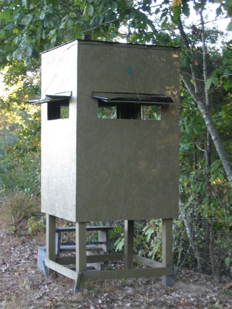 poor mans hunting box blind shooting house building