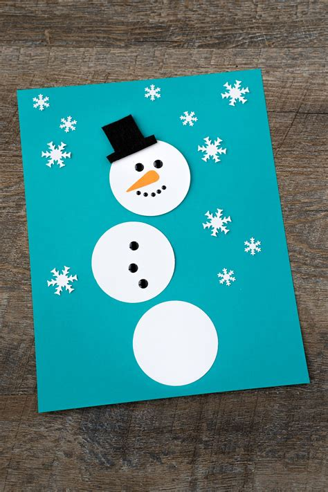 snowman arts and crafts easy paper snowman 5448