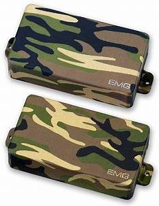 Emg 81  85 Active Guitar Pickup Set Camo Covers By Emg