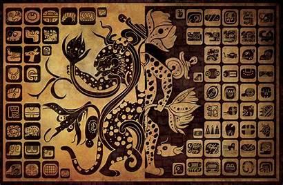 Mayan Glyphs Hieroglyphics Aztec Mexican Glyph Warrior