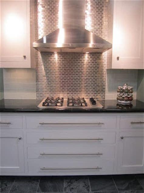 tile shop glass backsplash  stainless steel