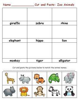 zoo animals    grade activities activities