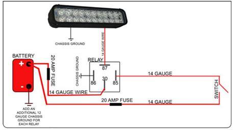 led light fixture wiring led light bar relay wire up polaris rzr forum rzr
