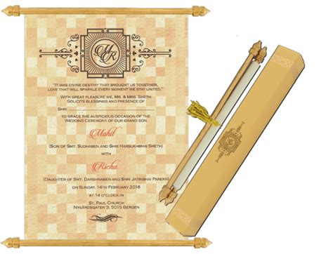 buy scroll wedding invitation cards sc