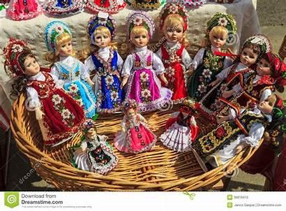Traditional Dresses Romanian Dolls Handmade Colorful