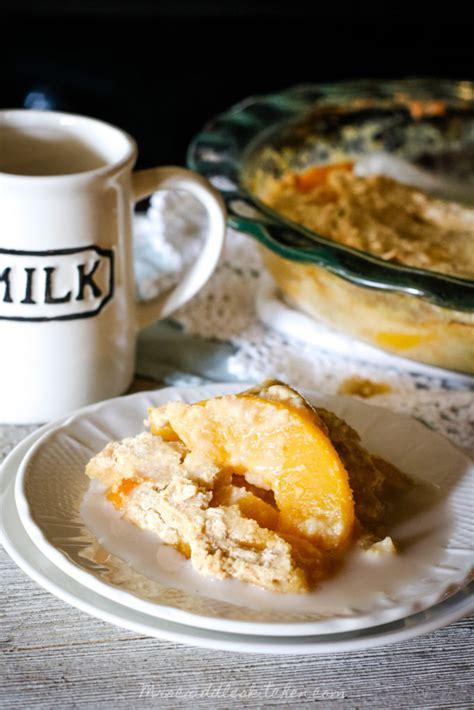 Peach Cobbler Breakfast Bake Mrs Criddles Kitchen
