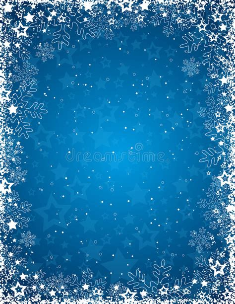 cadre flocon de neige blue background with frame of snowflakes vector stock vector image 27698865
