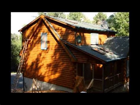 log home cabin sealing staining perma chink checmical stripping pressure washing remove