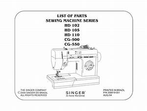 Singer Sewing Machine Cg500 User Guide