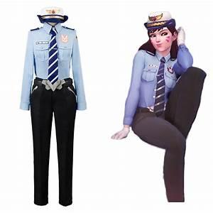 Hana Song Overwatch D Va Dva Police Officer Uniform