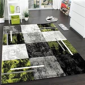 Teppich Grün Grau : designer teppich modern mit konturenschnitt karo muster grau schwarz gr n wohn und schlafbereich ~ Markanthonyermac.com Haus und Dekorationen