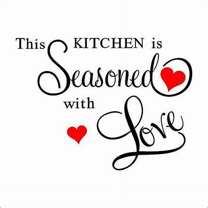 Kitchen Quotes Seasoned Wall Decor Sticker Quote