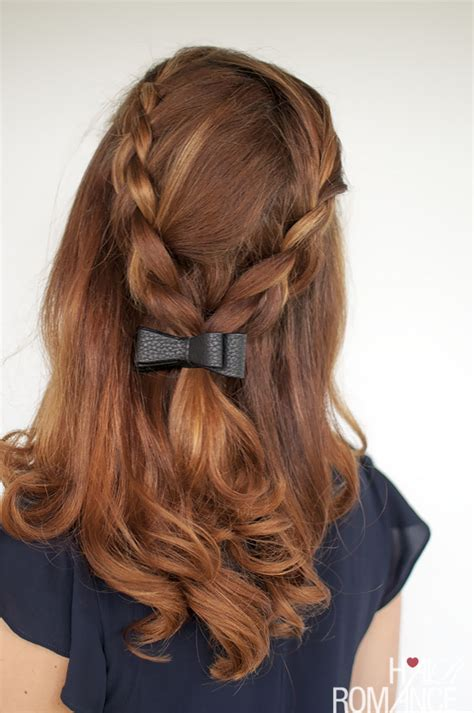 different hair bow styles braid tutorial two ways and two accessories hair