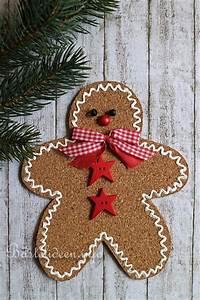 Weihnachtsbasteln Mit Holz : weihnachtsbasteln mit kindern lebkuchenmann aus einer korkplatte ~ Udekor.club Haus und Dekorationen