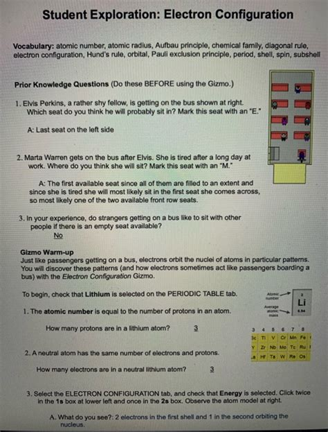 Determine the relationship between electron configuration and atomic radius. Prevet17652: Ouille! 20+ Raisons pour Student Exploration: Electron Configuration Key! A wide ...