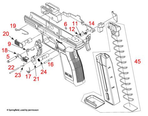 springfield armory 174 xd frame schematic brownells uk