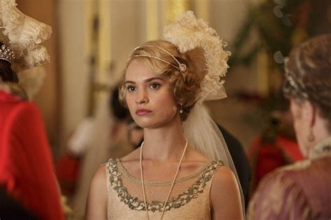 lily james read war  peace  filming downton abbey
