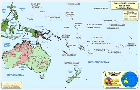 South Pacific Islands World Map