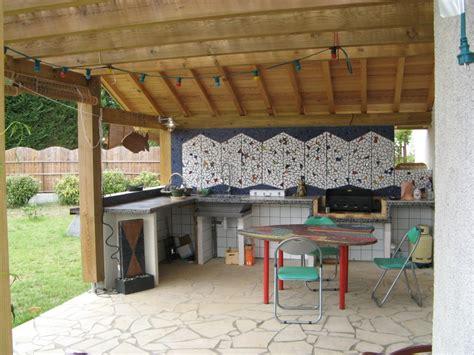 photo cuisine exterieure jardin cuisine d ete sur terrasse