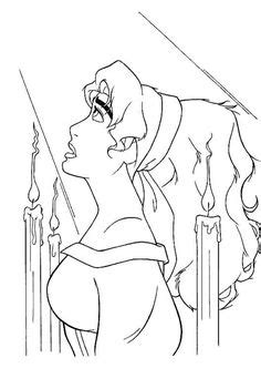 Esmeralda From The Hunchback Of Notre Dame Coloring Page
