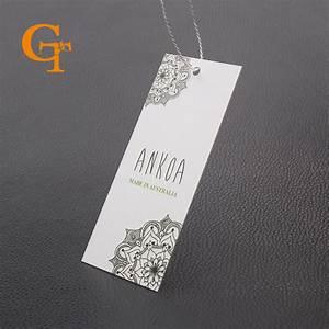 custom brand shop name printing garment clothing hang tag With apparel tag printing