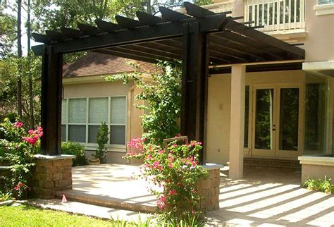 fantastic free pergola designs attached to house garden landscape