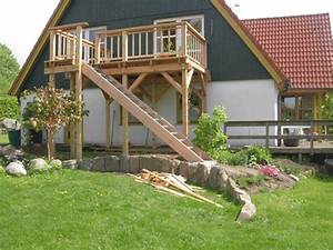 balkon treppe holz selber bauen kartaginainfo With französischer balkon mit terrassen treppen in den garten