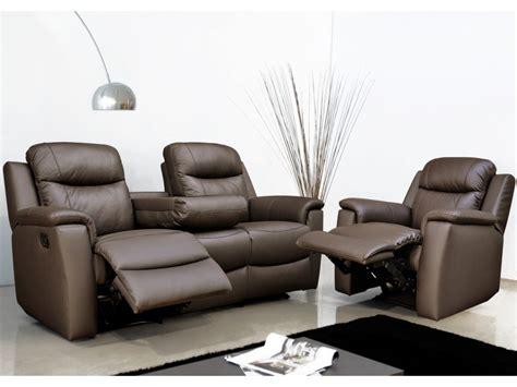 canape fauteuil canapé et fauteuil relax evasion en cuir 4 coloris