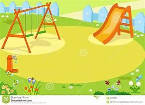 Cartoon Empty Playground Vector Stock Vector - Image: 94729093