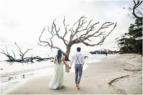 Driftwood Beach Anniversary Session Jekyll Island Wedding
