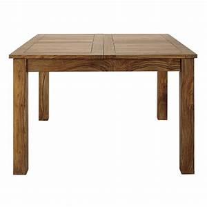 Table de salle à manger à rallonge en bois de sheesham massif L 130 cm Stockholm Maisons du Monde