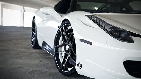 Car, Ferrari 458 Italia, White Cars Wallpapers Hd