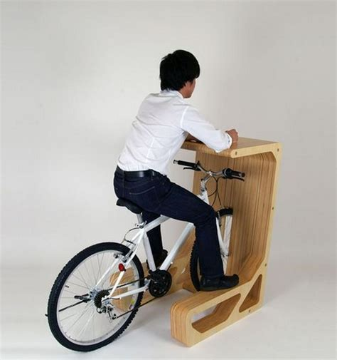 park your bicycle indoors and enjoy its chair function