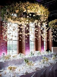 Wedding Flowers Hanging From Ceiling