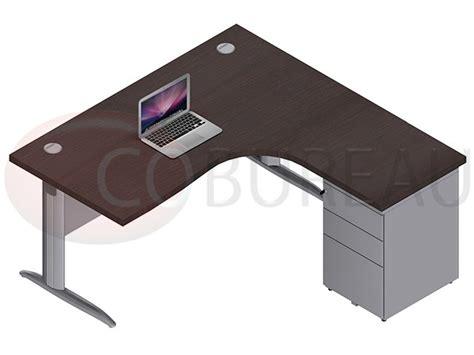 bureau pro bureau compact 160 cm pro métal avec caisson métallique