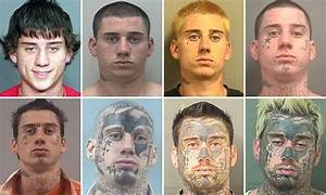 Florida man with crazy face tattoos arrested while asleep ...
