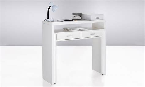 bureau console extensible groupon shopping