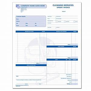 Cleaning and janitorial invoice forms designsnprint for Invoice printing services