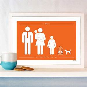 Personalised family and pets print by a piece of