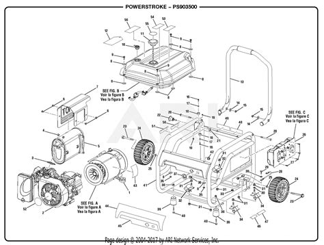 homelite ps903500 powerstroke 3 500 watt generator parts diagram for general assembly