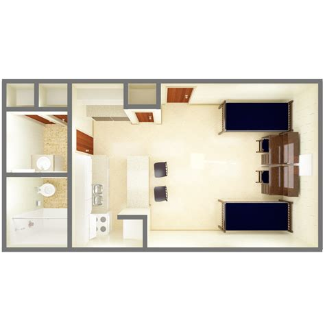 1 bedroom floor plans beta gamma community