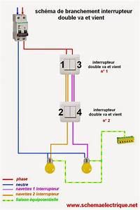 Branchement D Un Va Et Vient : schema branchement double va et vient soufiane pinterest html ~ Carolinahurricanesstore.com Idées de Décoration