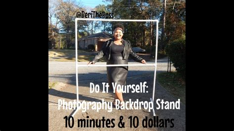 diy photo backdrop stand      minutes