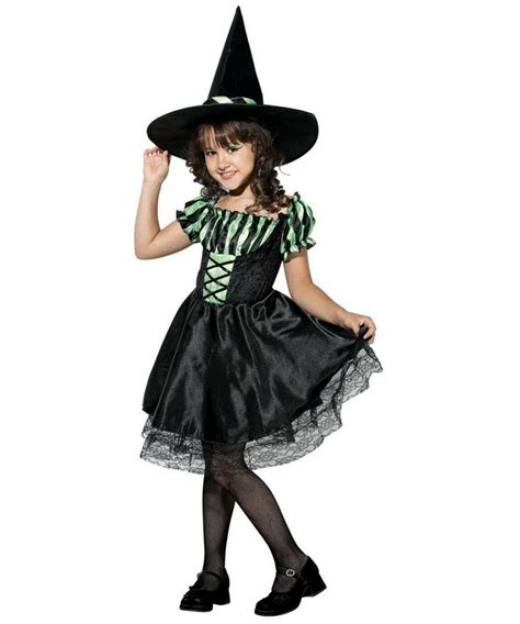 lime striped witch kids halloween costume girls witch