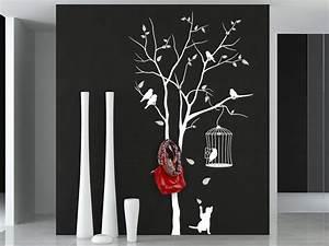 Baum Als Garderobe : wandtattoo garderobe baum mit vogelk fig wandtattoo de ~ Buech-reservation.com Haus und Dekorationen