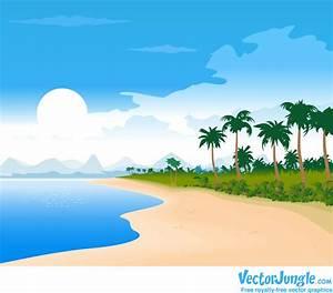 Cartoon Beach Wallpaper - Cartoon Images
