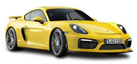 porsche transparent yellow porsche cayman gt4 car png image pngpix